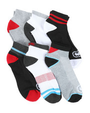 DRJ SOCK SHOP - 6 Pack Quarter Cushion Socks-2388099