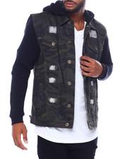 Buyers Picks - Hooded Denim Jacket w Fleece Sleeve-2389628