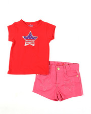 Girls - Americana Set (Tee/Short) (4-6X)-2364273