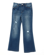 Girls - High Rise Flare Jeans (7-16)-2390556