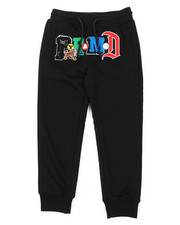 Black Pyramid - Collage Type Sweatpants (5-18)-2389749