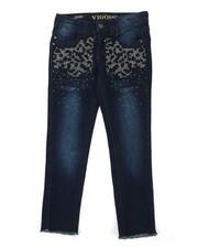 Bottoms - Ankle Frayed Hem Jeans w/ Stud Detail (7-16)-2390316