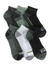 DRJ SOCK SHOP - 6 Pack Quarter Cushion Socks-2388101