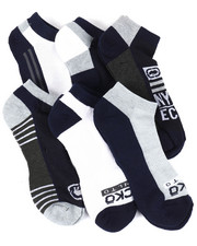 DRJ SOCK SHOP - 6 Pack 1/2 Cushion No Show Socks-2388416