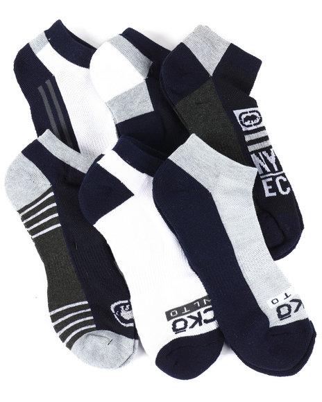Ecko - 6 Pack 1/2 Cushion No Show Socks