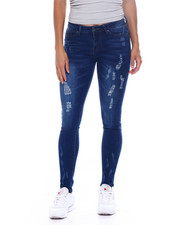 Bottoms - Distressed Skinny Jean-2389025