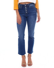 YMI Jeans - Dream Vintage 5 Bttn Wide Leg Raw Edge Jean-2387212