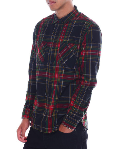 Levi's - caviar plaid BUTTONFRONT LS SHIRT