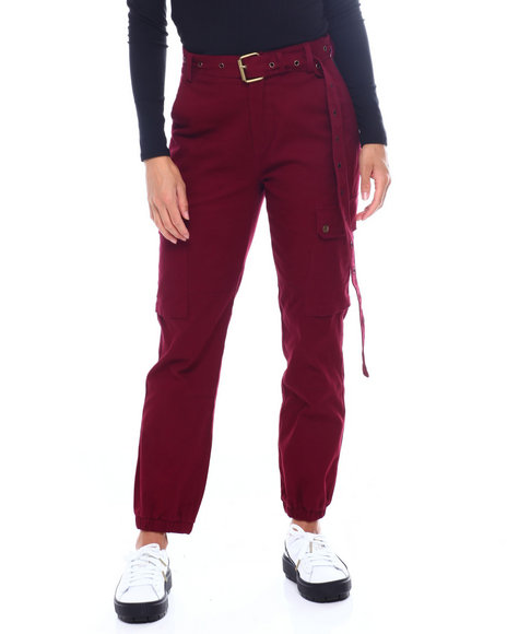 Fashion Lab - High Waist Cargo Pant W/Belt