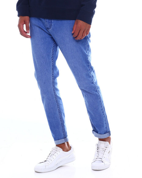 ROLLAS - ROLLIES SLIM ROLLED BOLD BLUE JEAN