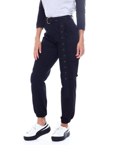 Fashion Lab - High Waist Cargo Pant W/Belt