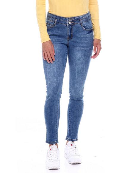 Fashion Lab - 2 Bttn Stack Waist Butt Lifter Jean