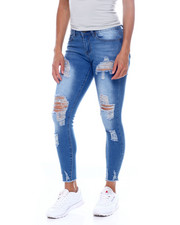 Bottoms - Distressed Skinny Jean-2389064