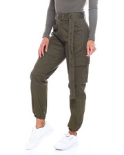 Bottoms - High Waist Cargo Pant W/Belt-2386029