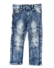 Arcade Styles - Stretch Moto Jeans (2T-4T)-2391116