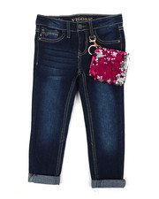 Bottoms - Ankle Jeans W/ Sequin Coin Pouch Detail (4-6X)-2390306