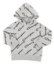 Champion - AOP Open Script Long Sleeve CVC Hoodie (4-7)-2391345