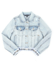 Girls - Logo Denim Jacket (7-16)-2390515