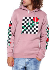 Men - CHECKER ROSE HOODIE-2391855