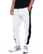 Men - PRINT SPACE DYED PANEL JOGGER-2391736