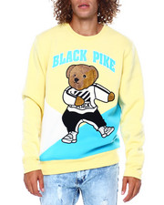 Men - Colorblock Dabbin Bear Crewneck Swetshirt-2391838