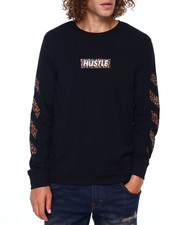 Men - HUSTLE LEOPARD LS TEE-2391506