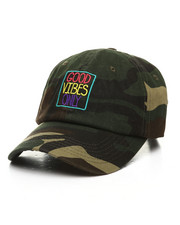 Men - Good Vibes Only Camo Dad Hat-2391412
