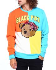 Colorblock Chenille Teddy w Bandana Sweatshirt