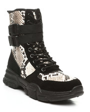 Fashion Lab - Ghandi-45 Lace-Up Boots W/ Double Buckle-2392052