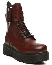 Fashion Lab - Kenzo-17 Lace-Up Boots W/ Big Buckle-2392091