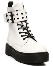 Womens-Fall - Kenzo-17 Lace-Up Boots W/ Big Buckle-2392517