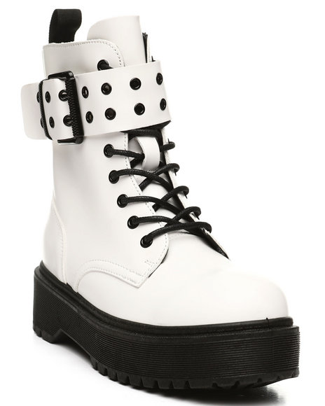 Fashion Lab - Kenzo-17 Lace-Up Boots W/ Big Buckle