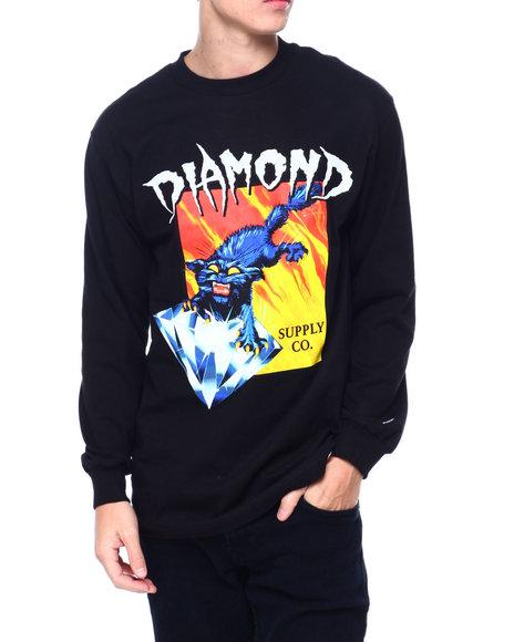 Diamond Supply Co - GREED L/S TEE