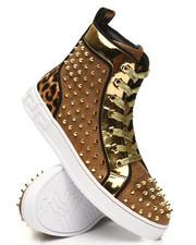 AURELIO GARCIA - Leopard Spike Sneakers-2391956