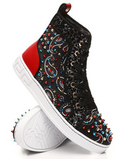 AURELIO GARCIA - Paisley Spike Sneakers-2391771