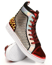 AURELIO GARCIA - Red High Top Sneakers-2391922