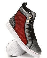 AURELIO GARCIA - Snake High Top Irridescent Sneakers-2391934