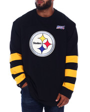 Mitchell & Ness - Steelers L/S Heavy Jersey (B&T)-2393722