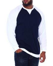 Big & Tall - L/S Two Tone Raglan Jersey Knit (B&T)-2393364