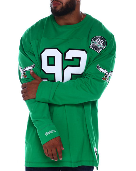 Mitchell & Ness - Eagles White L/S Heavy Jersey (B&T)