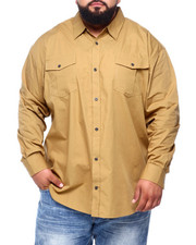 Shirts - Basic Solid L/S Woven (B&T)-2393360