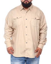 Shirts - Basic Solid L/S Woven (B&T)-2393339