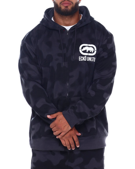 Ecko - 2 Color Camo Zip Up Hoodie (B&T)
