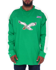 Mitchell & Ness - Eagles L/S Heavy Jersey (B&T)-2393701