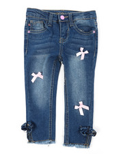 Girls - Ankle Jeans W/ Bow Embellishment Details (2T-4T)-2393959