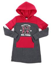 Dresses - Fleece Sweatshirt Dress (4-6X)-2394357