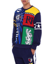 Parish - COLORBLOCK CRWON ROYAL CREWNECK SWEATSHIRT-2394584