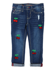 Bottoms - Ankle Rolled Cuff Hem Jeans (4-6X)-2393954