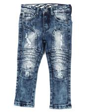 Jeans - Stretch Denim Moto Jeans W/Embossed Gel Injection (2T-4T)-2395246