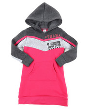 Dresses - Athleisure Sweatshirt Dress (2T-4T)-2394318